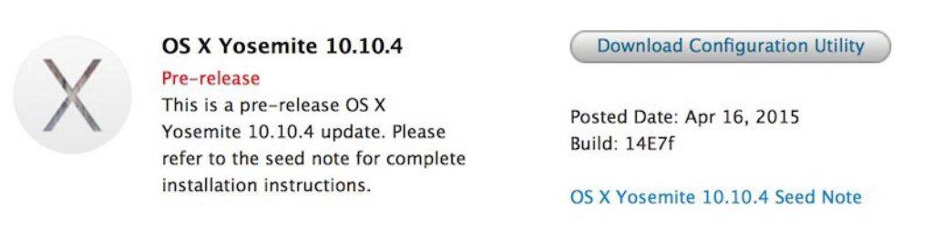 آپدیت OS X 10.10.4