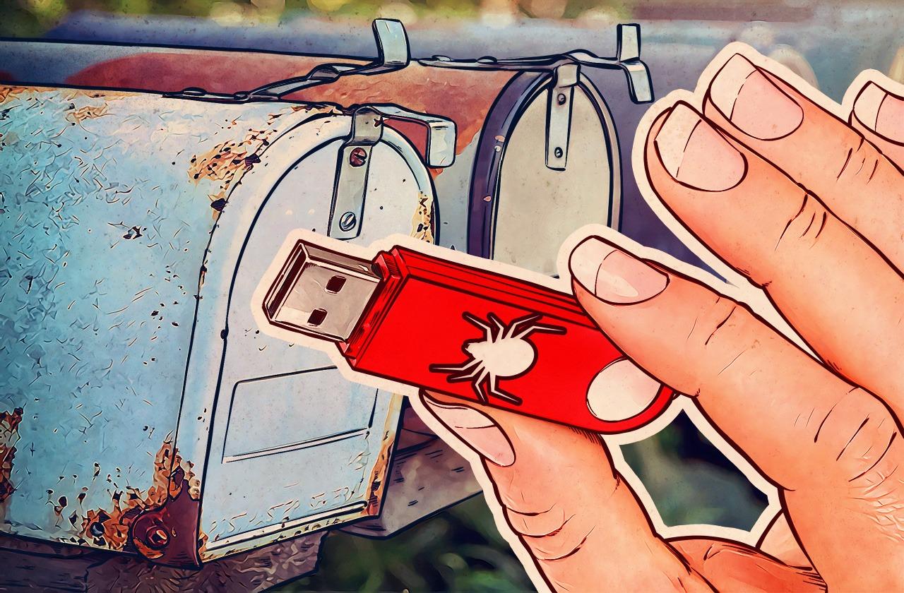 روش جدید مجرمان برای به دام انداختن شهروندان: ارسال USB فلش های آلوده به صندوق پستی منازل