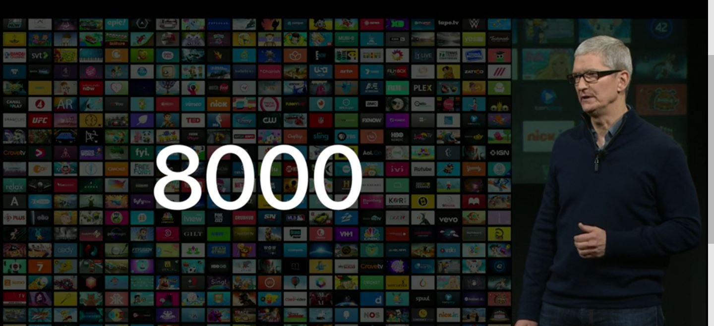 اپل: هم اکنون اپل تی وی بیش از ۸۰۰۰ نرم افزار دارد