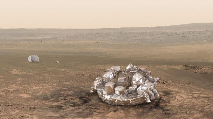 کاوشگر اسکیاپارلی آماده فرود هفته بعد روی مریخ