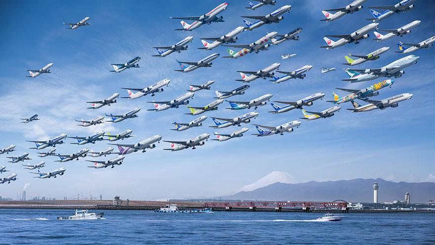 مطلب ساعت ۲۴ : این عکسهای باورنکردنی از عبور هواپیما در طول دو سال; شماره دوم (آخرین شماره)
