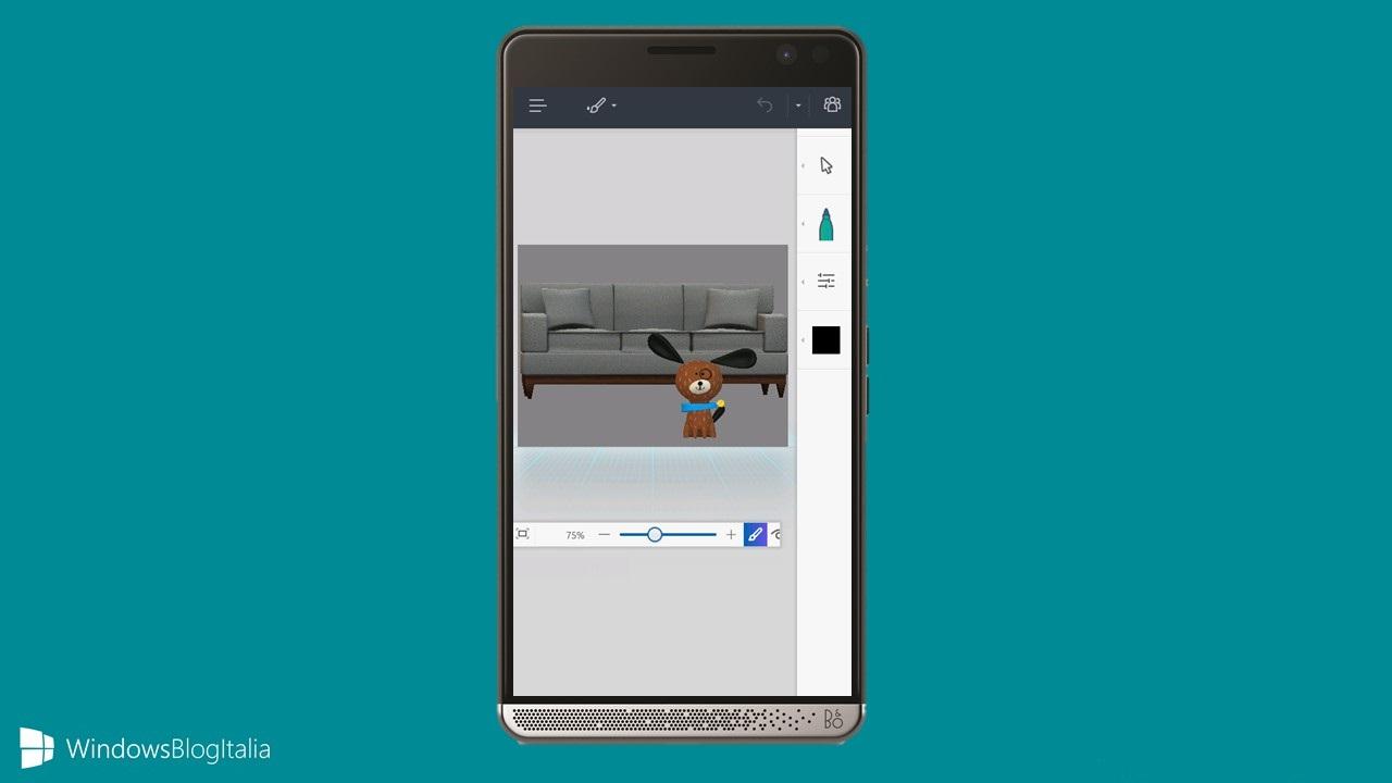 نسخه سه بعدی نرمافزار Paint برای ویندوز ۱۰ موبایل ارایه میشود