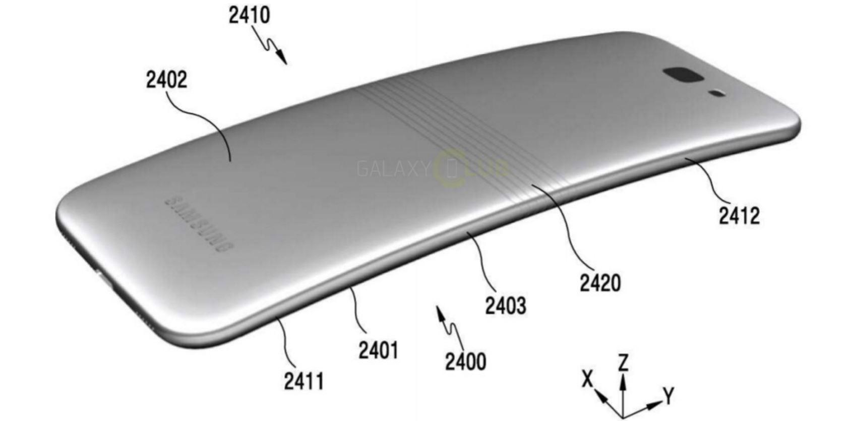 اختراع به ثبت رسیده از گوشی منعطف سامسونگ که احتمالاً برای سال ۲۰۱۷ آماده میشود