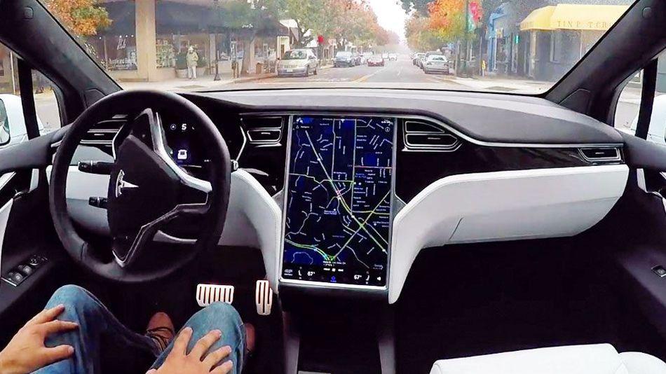 خیابان ها از نگاه یک خودرو خودران شرکت تسلا