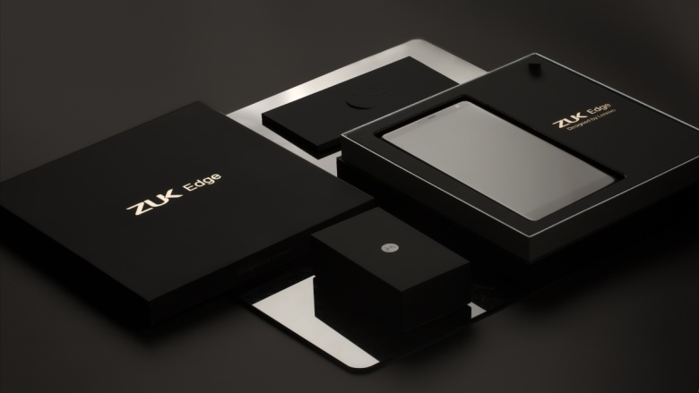 درز تصویری از نسخه سفید/طلایی ZUK Edge