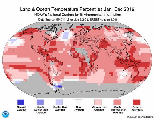 سال ۲۰۱۶؛ سالی که گرمای زمین زیاد شد