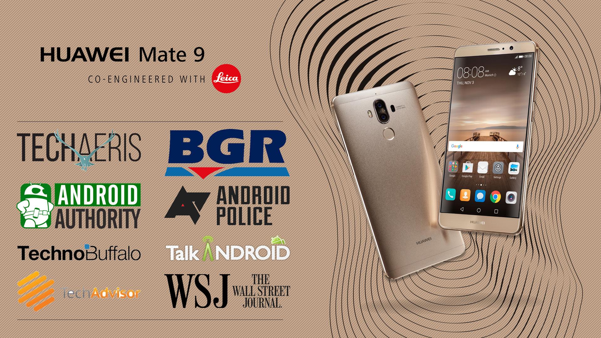 هشت جایزه ارزشمند CES 2017 برای Mate 9 هواوی