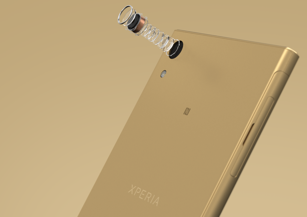 ۱۲_Xperia_XA1_Ultra_gold_camera_components
