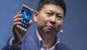 Huawei CEO Yu presents the new Mate S ahead the of the IFA Electronics show in Berlin