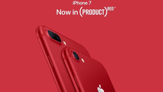 اپل نسخهای قرمز رنگ از آیفون ۷ و آیفون ۷ پلاس را معرفی کرد