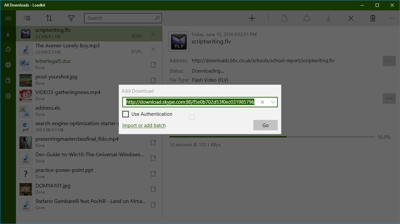 ترنج اپ: Loadkit Download Manager ، یکی از بهترین دانلود منیجرهای یونیورسال ویندوز ۱۰