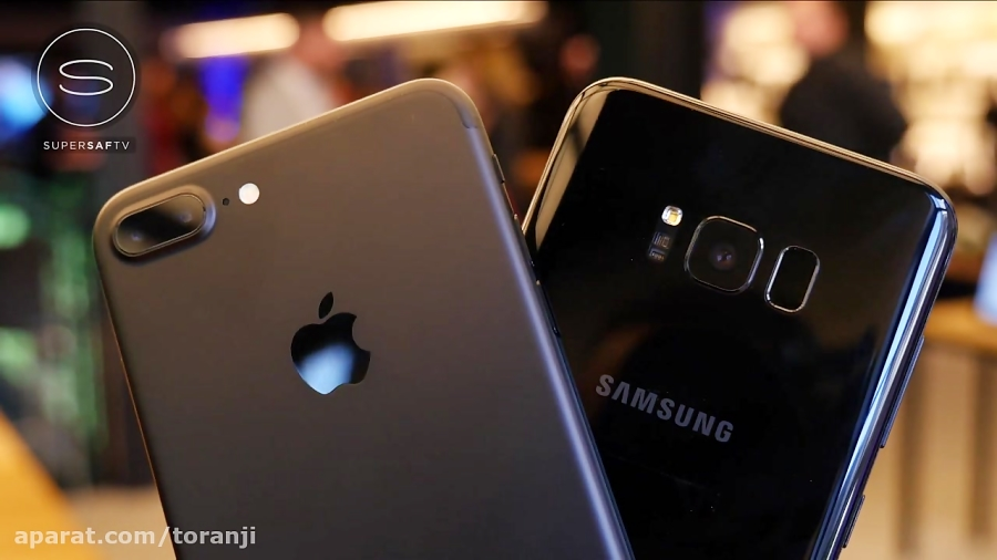 تماشا کنید: مقایسه سامسونگ گلکسی اس ۸ پلاس در کنار اپل آیفون ۷ پلاس