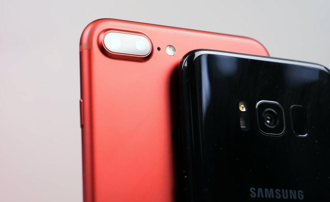 مقایسه دوربین گلکسی اس ۸+ با آیفون ۷ پلاس