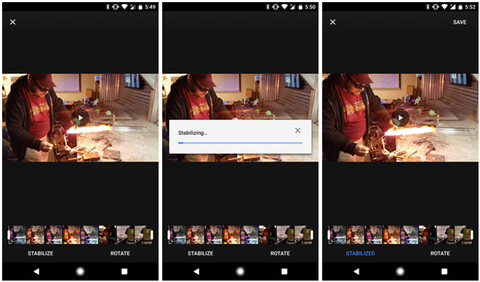 در آخرین اپدیت Google Photos شاهد اضافه شدن قابلیت video stabilization به صورت بسیار حرفهای هستیم