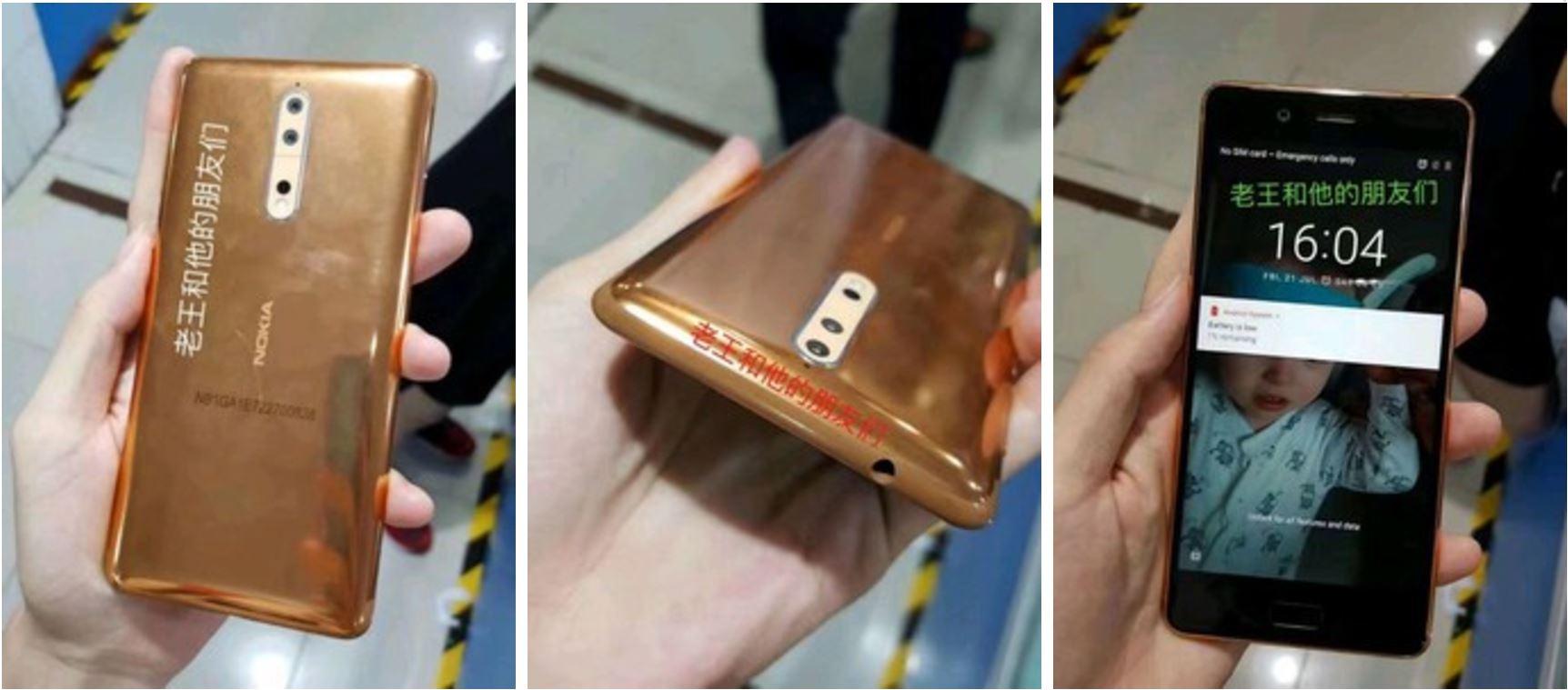 تصاویری از نسخه طلایی مسی نوکیا ۸ (Nokia 8) به بیرون درز کرد