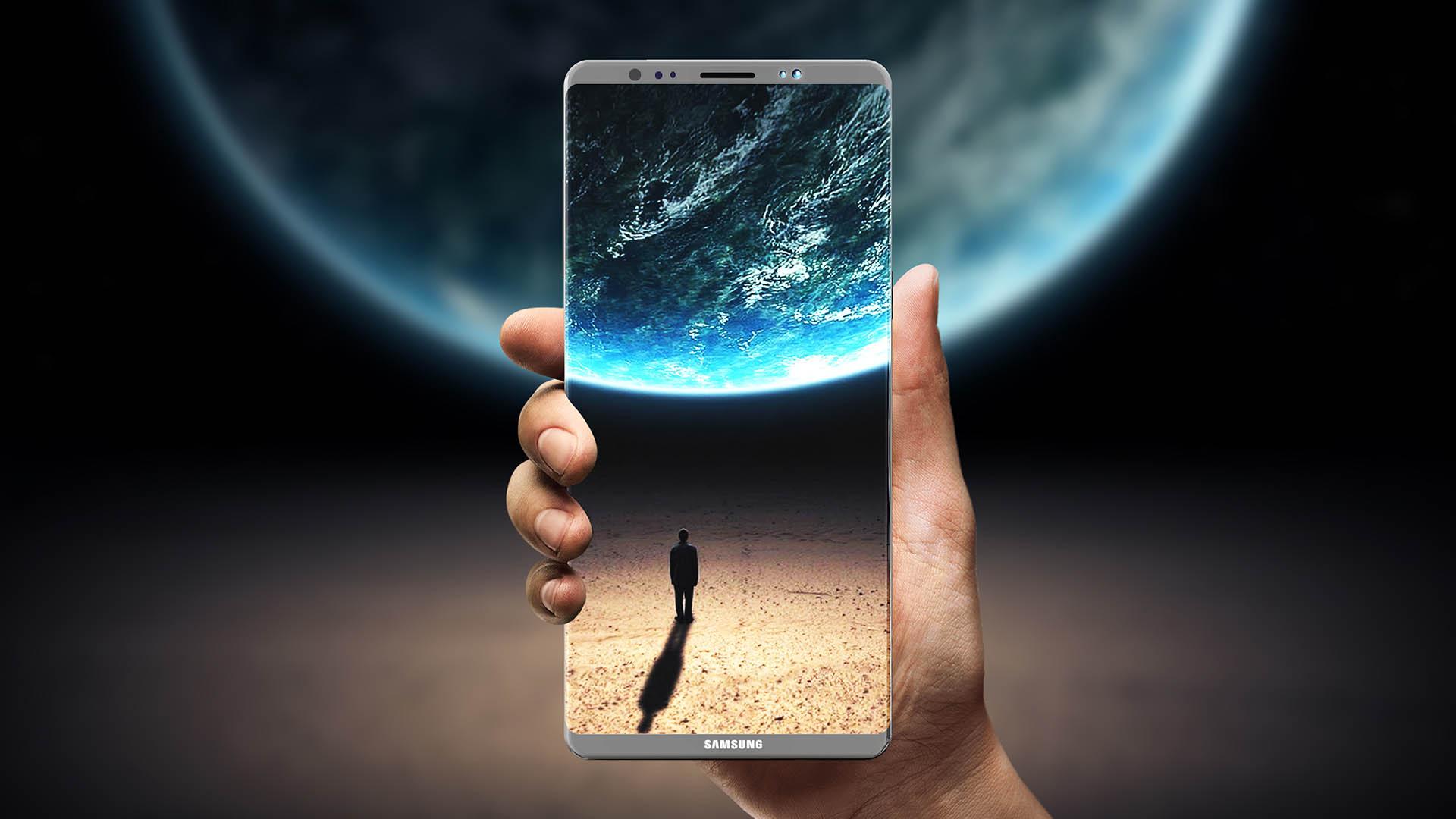 نمایشگر سامسونگ گلکسی نوت ۸ (Galaxy note 8) موسوم به infinity Display مشاهده شد؛ زیبا به نظر میرسد!
