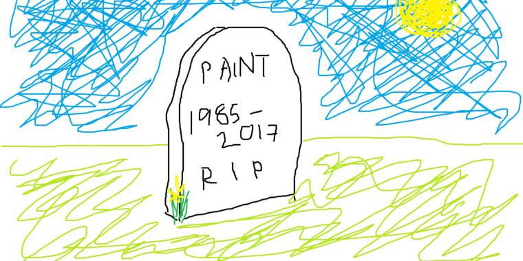 حذف برنامه Paint بعد از ۳۲سال