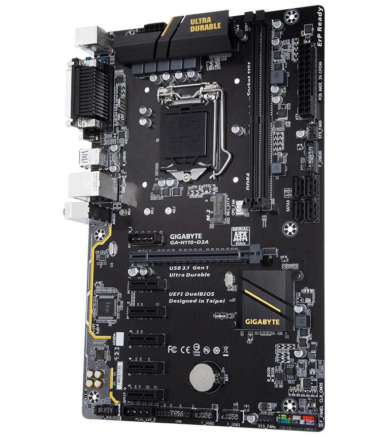 سختافزاری برای ماینینگ: مادربرد گیگابایت H110-D3A