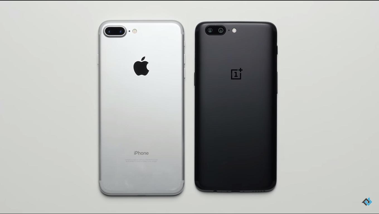 تماشا کنید: تست سرعت iPhone 7 Plus با OnePlus 5؛ جنگ سرعت