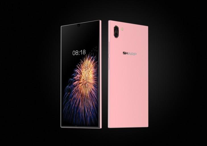 تصاویر جدید فاش میکنند که گوشی جدید شارپ کاملا بدون حاشیه نیست