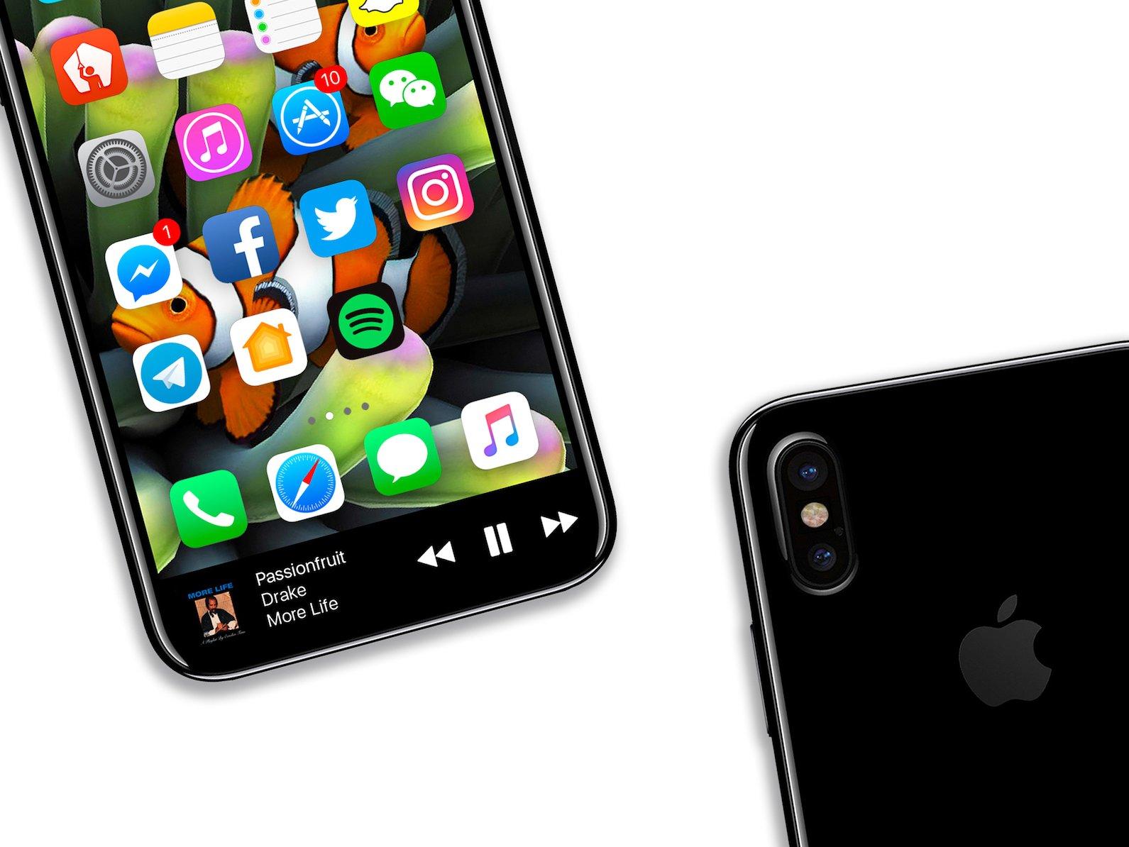 آیفون ۸ در ماه نوامبر به همراه اسکنر عنبیه چشم و بدون TouchID عرضه خواهد شد