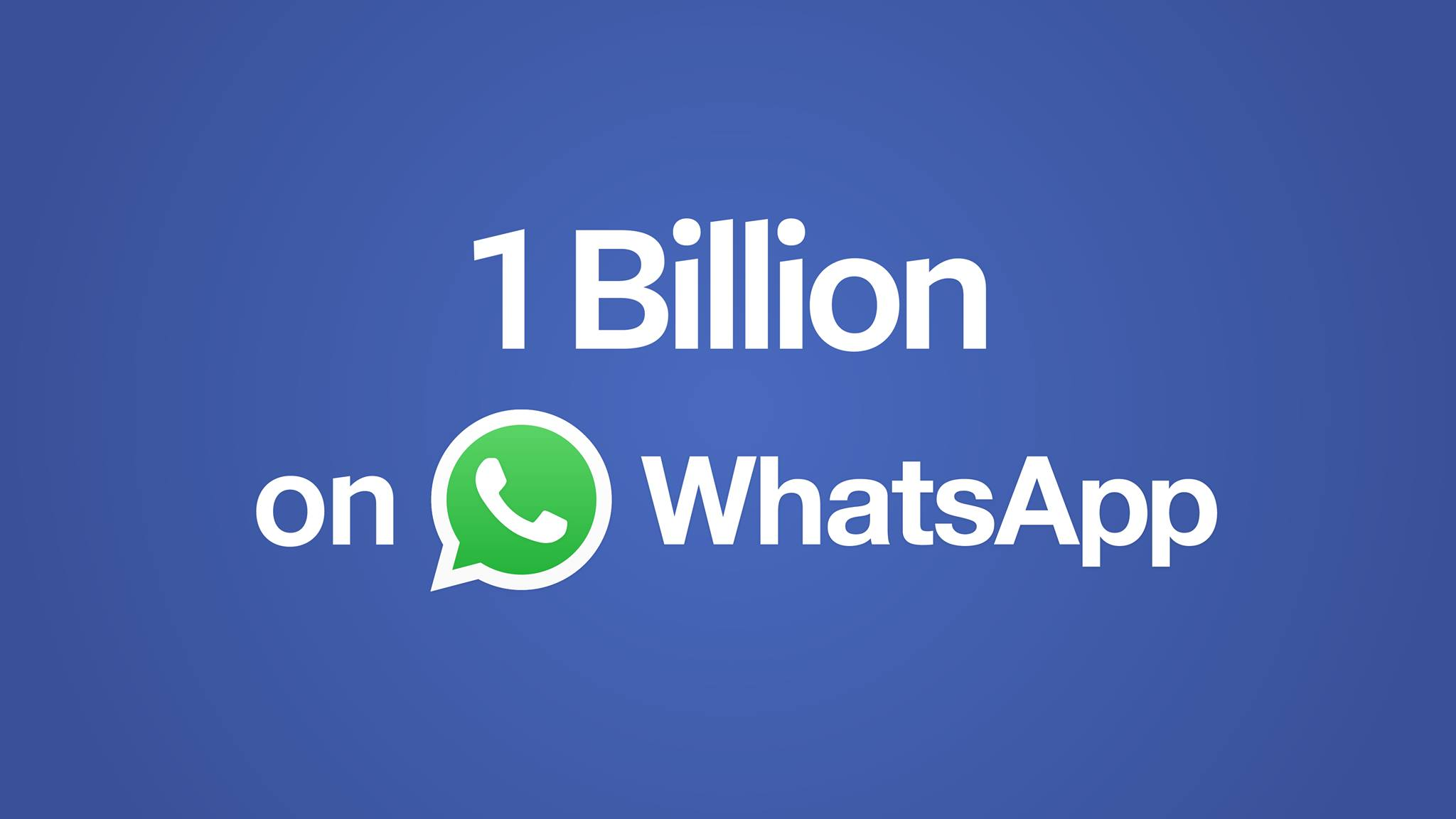 مسنجر WhatsApp روزانه ۱ میلیارد کاربر فعال دارد!
