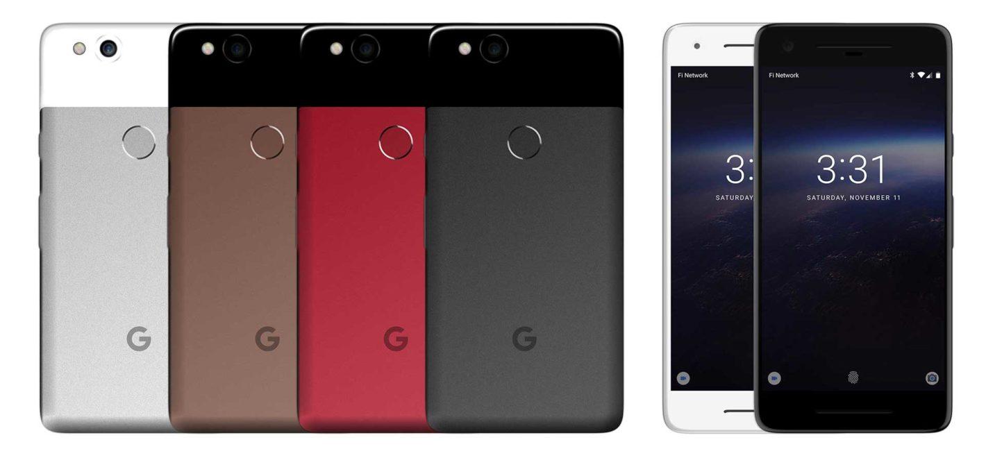 رندرهای سه بعدی از گوگل پیکسل 2 منتشر شد