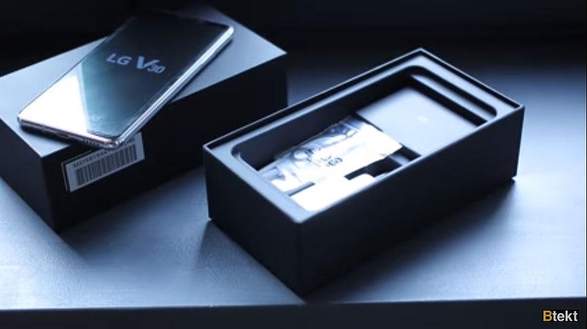 آنباکسینگ الجی وی 30 (LG V30)