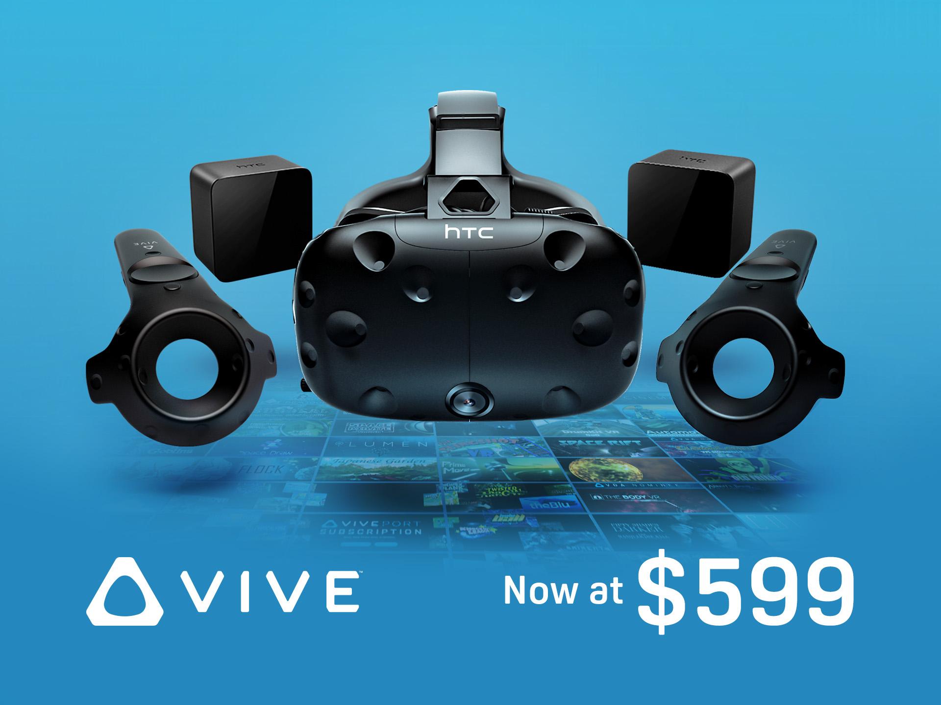 اچ تی سی قیمت هدست Vive را کاهش داد