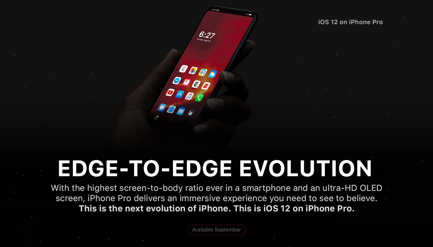 طرح مفهومی جدید iPhone 8؛ تمام صفحه و همیشه روشن!