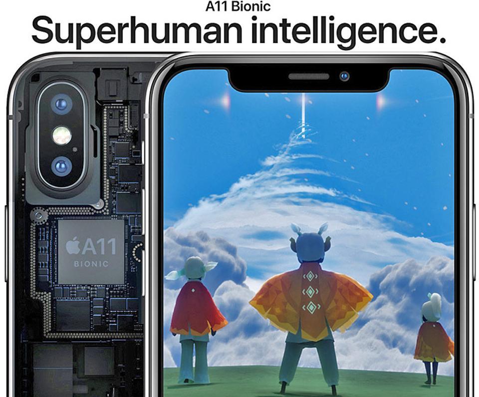 بنچمارک آیفون تن (iPhone X) با چیپست Apple A11 bionic منتشر شد، بی نظیر
