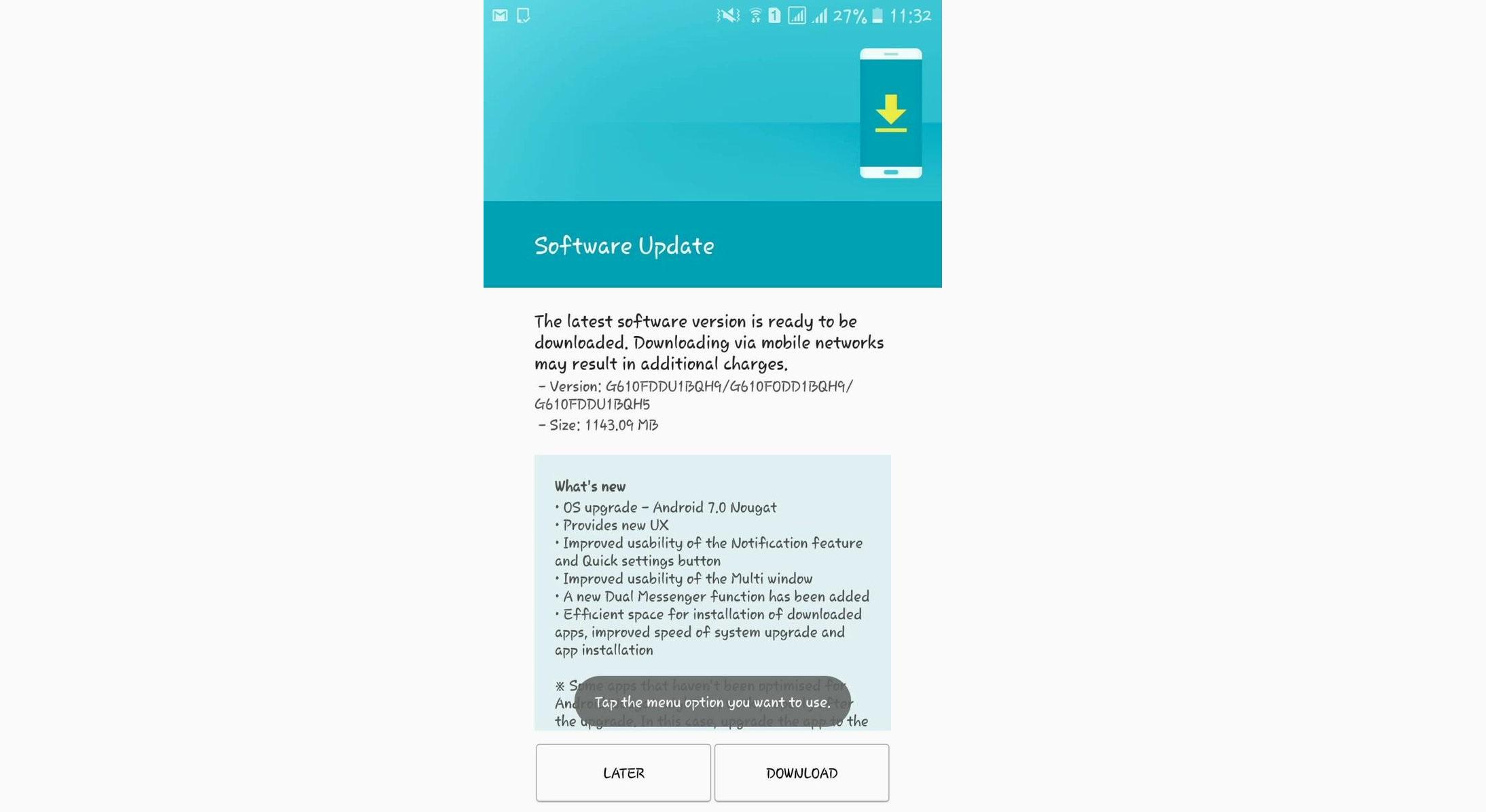 اندروید 7 به طور رسمی برای سامسونگ گلکسی جی 7 پرایم (Galaxy J7 Prime) منتشر شد