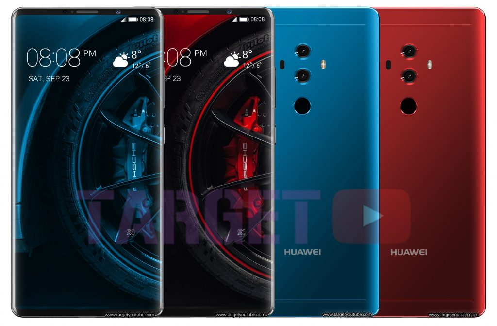 رندرهای هوآوی میت 10 پرو (Huawei Mate 10 Pro) منتشر شد