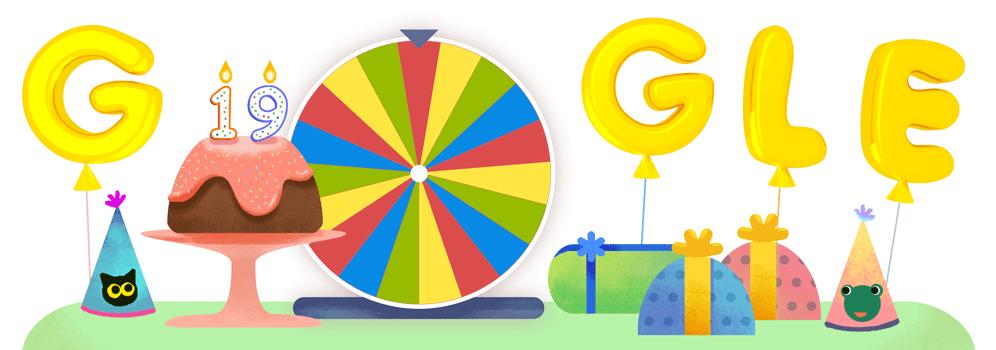 گوگل تولد 19 سالگیاش را جشن میگیرد