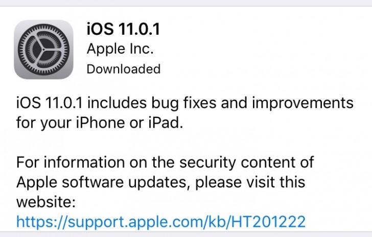 آیاواس 11.0.1 برای آیفون و آیپدها منتشر شد