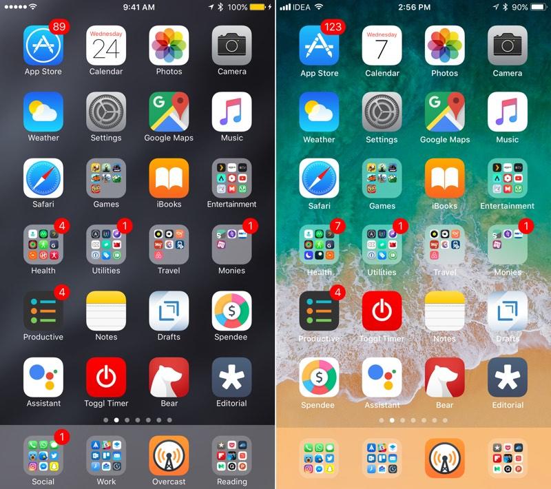 iOS 10 vs iOS 11