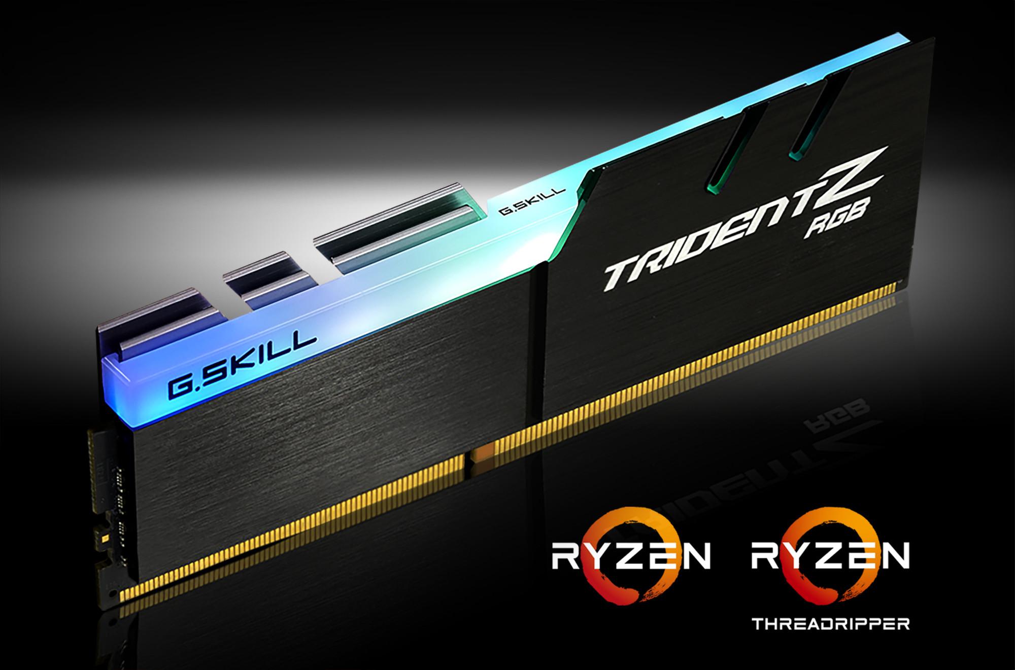 شرکت G.SKILL ماژول حافظههای DDR4 جدید Trident Z RGB بهینه خود را برای پردازندههای سری Ryzen معرفی میکند