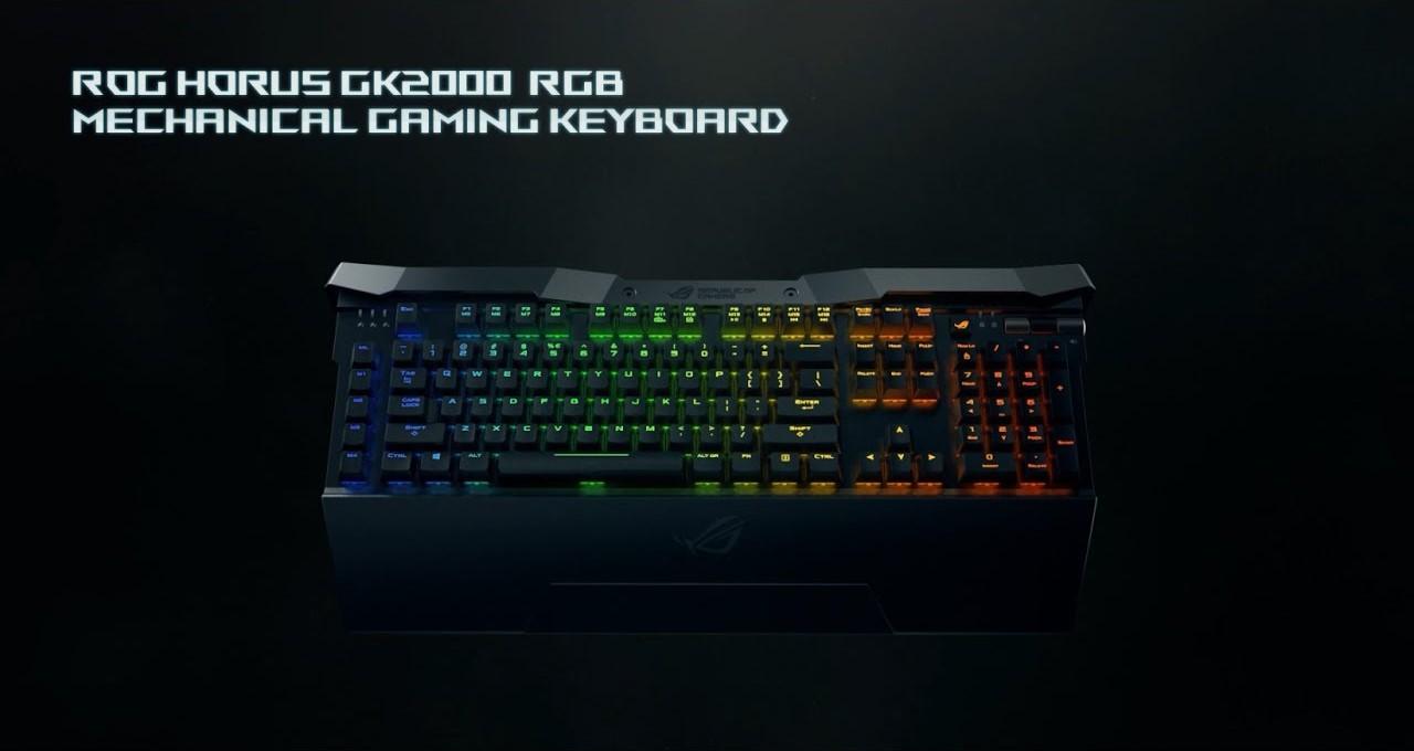 ایسوس کیبورد منحصر به فرد ROG HORUS GK2000 را به نورپردازی RGB مزین میکند