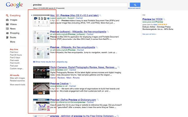 پیشنمایش سرچ - افزونه گوگل کروم - ترنجی - Toranji.ir