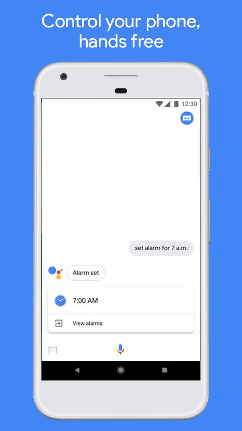 اسکرینشاتهایی از برنامه|Google Assistant