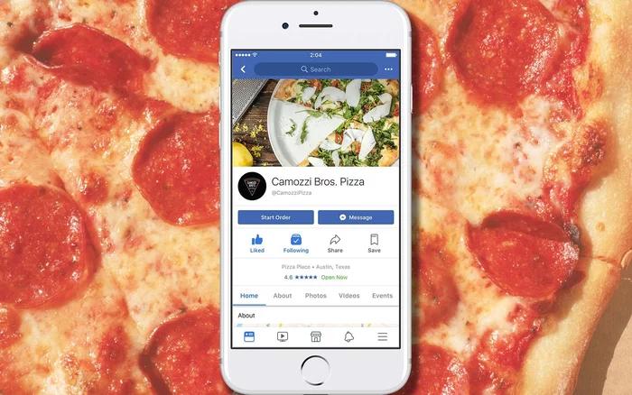از حالا میتوانید از طریق فیسبوک غذا سفارش دهید