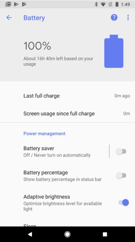 برنامه باتری گوگل