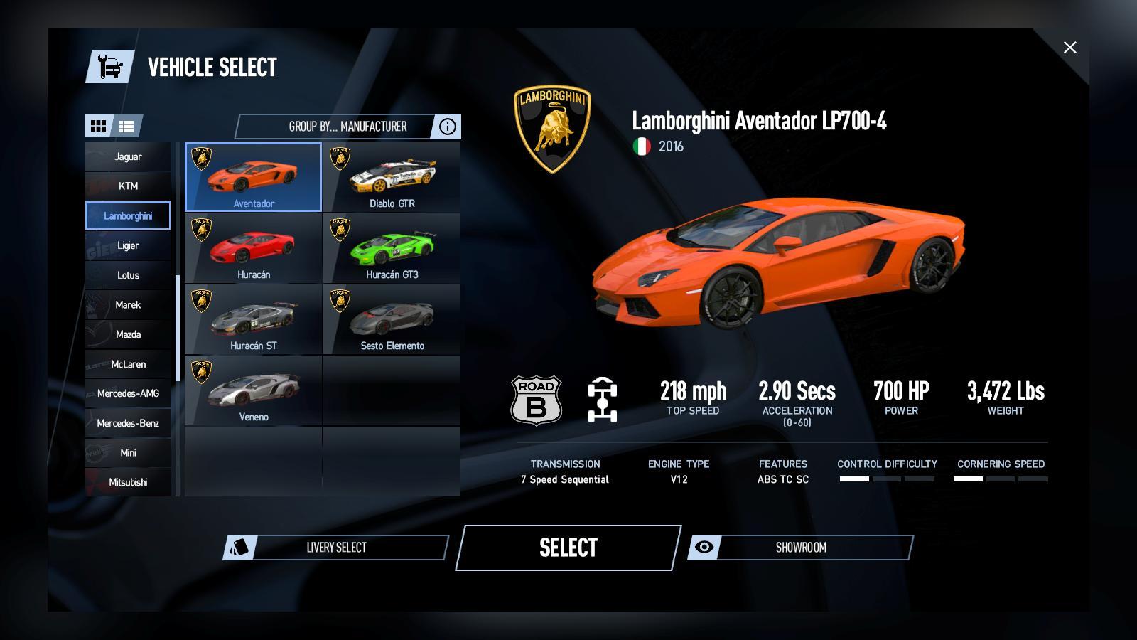 لیست ماشینهای Project cars2