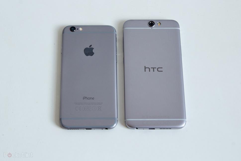 اچ تی سی وان A9 در کنار اپل آیفون 6