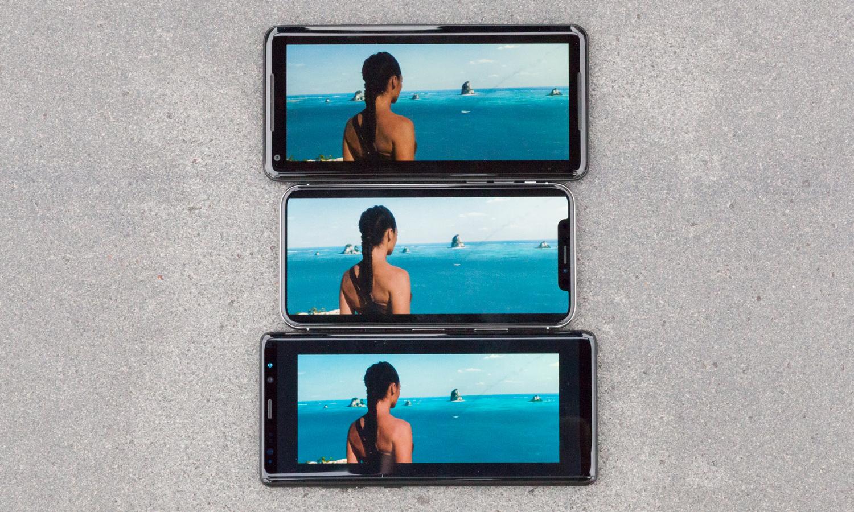مقایسه نمایشگر OLED آیفون تن (iPhone X) با گلکسی نوت 8 و پیکسل 2 ایکس ال