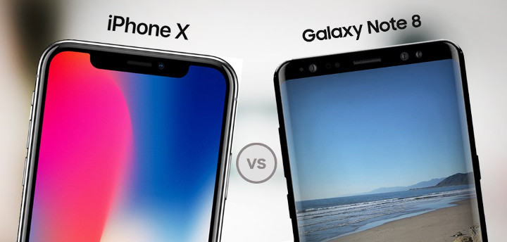 تست سرعت آیفون تن (iPhone X) با گلکسی نوت 8