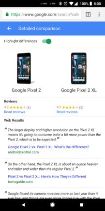 هم اکنون در Google Search میتوانید مشخصات دستگاههای هوشمند را با هم مقایسه کنید