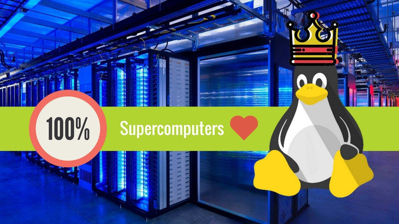 تمام ابرکامپیوترهای دنیا با لینوکس کار میکنند