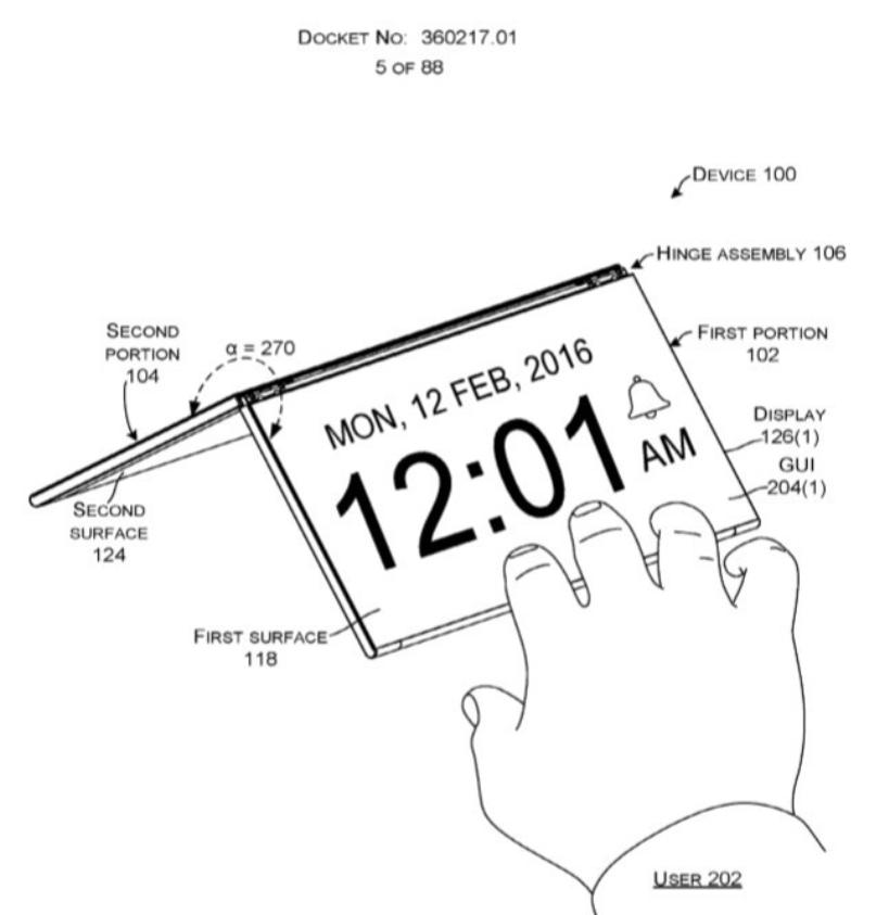 پتنت مایکروسافت برای تبلت تاشو سرفیس منتشر شد
