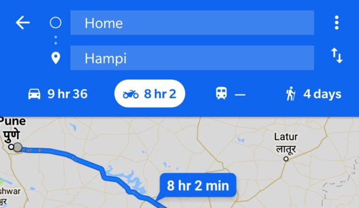 مسیریابی موتور به گوگل مپ اضافه شد